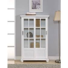 beautiful glass doors altra aaron lane bookcase with sliding glass doors white