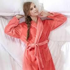 robe de chambre en velours femme robe de chambre polaire femme orange clair à col châle achat