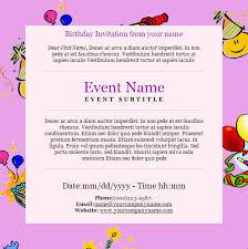 e birthday invitations u2013 gangcraft net