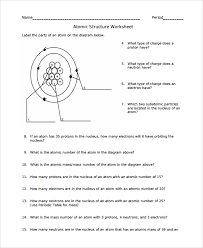 atoms worksheet free worksheets library download and print