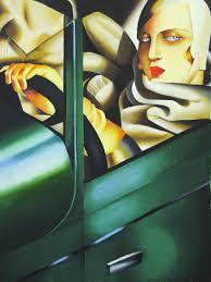 Tamara De Lempicka Art by Copia Da Tamara De Lempicka Autoritratto Bugatti U2013 Sabrina Gava