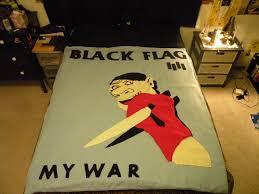 Black Flag Nervous Black Flag U0027my War U0027 Quilt