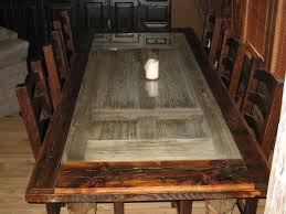 barn door dining table