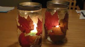 halloween glass jars diy fall lantern diy autumn candle jar holder youtube