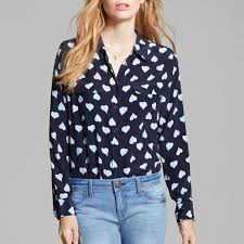 equipment blouse equipment slim signature print blouse rank style