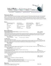 Example Artist Resume by Resume Artists Resume