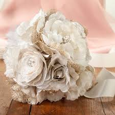 burlap flowers burlap and flower bridal bouquet