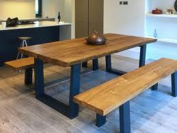 Oak Top Dining Table Oak Bench For Dining Table Glamorous Ideas Rustic Dining Table
