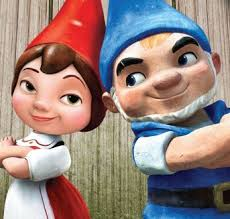 gnomeo juliet gnomes mushrooms lawn garden