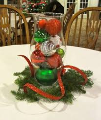 christmas table centerpiece with fresh greenery christmas