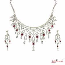 designer diamond sets wedding diamond necklace set designs at djewels org indian