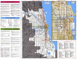 Chicago Maps by Chicago Bus Map Adriftskateshop