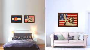 B Q Home Decor Statue Of Liberty American Flag Home Decor Office Wall Art