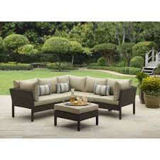 Outdoor Sofa With Chaise Costway 3 Pcs Outdoor Rattan Furniture Sofa Set Lounge Chaise