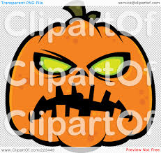 pumpkin no background royalty free rf clipart illustration of a spooky green eyed