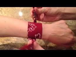bandana wristband bandana wrap bracelet how to tie