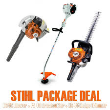 stihl 3 piece package deal bg 56 blower u0026 fs 40 brushcutter u0026 hs