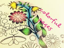 secret garden coloring book page 39 youtube