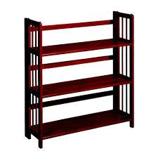Small Red Bookcase Home Decorators Collection 3 Shelf Folding Bookcase In Mahogany