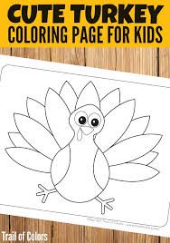thanksgiving turkey coloring trail colors