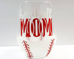 baseball mom wine etsy