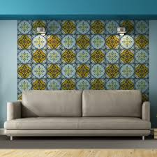 moroccan tiles stickers pack of 16 tiles tile decals art for