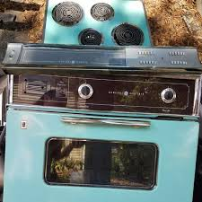 Sanyo Sk 7w Toaster Oven Vintage Ge Wall Oven Range Hood Cooktop Electric Teal Turquoise