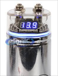 stinger spc122 spc122 1 farad 16v 20v chrome capacitor w blue