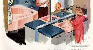 Kohler Bathroom Fixtures by Kohler Bathroom Plumbing Fixtures In Peachblow Pink 1957 Click