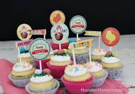 cupcake toppers printable easter cupcake toppers hoosier