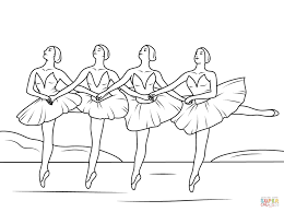 coloring pages swan lake ballet coloring free printable