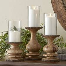 Vintage Bohemian Lead Crystal Candle Holder For Three Candles Wood Candle Holders You U0027ll Love Wayfair