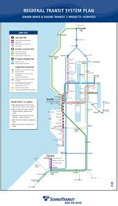 Map Of Greater Seattle Area by New Sound Transit Regional Map