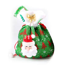 santa stocking christmas candy bags boxes xmas party gift