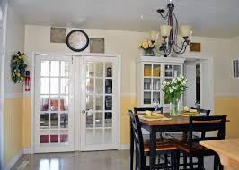 modren french doors in kitchen photograph with design ideas