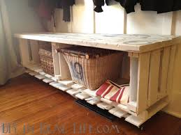 Wooden Pallet Bench Wood Pallet Crafts Easy Craft Ideas