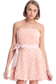 Marauders Map Dress Romwe Faux Roses Embellished Pink Bandeau Dress The Latest Street
