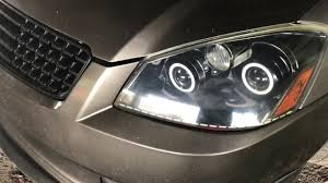 nissan altima headlights 2005 nissan altima custom headlights youtube