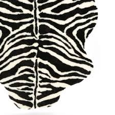 Zebra Print Rug With Pink Trim Animal Print Rugs