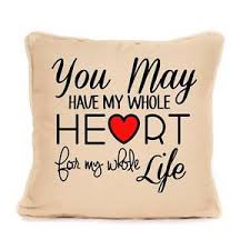 wedding gift quotes home cotton cushion wedding gift heart quote