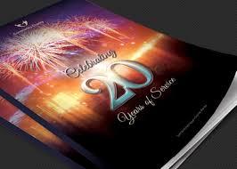 charity anniversary program cover template godserv market