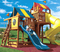 Playground Sets For Backyards by Swing Set Plans To Build Wooden Swing Sets