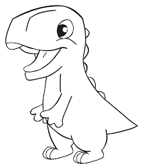 easy to draw dinosaur coloring page blog