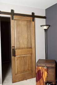 Install Sliding Barn Door by Hand Made Interior Barn Door Hardware Flat Track Installation By