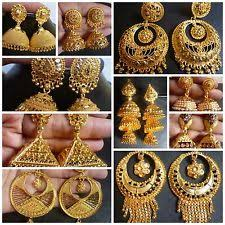 big jhumka gold earrings indian jhumka earrings ebay