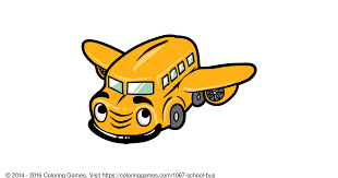 bus coloring games and coloring pages