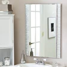 bathroom simple large bathroom mirror and white door lamp on wall