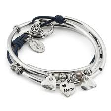 bracelet with heart charms images Mini charmer w heart charm trio leather wrap charm bracelet jpg