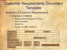 customer requirements document template youtube
