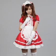Gothic Halloween Costumes Women French Maid Costume Sweet Gothic Dress Anime